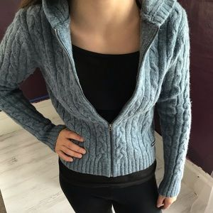 A & F wool hooded sweater. Girls size L.